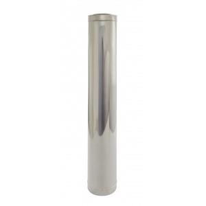 Holetherm Kamin-/ Ofenrohr Konzentrisch Längenelement 1000 mm DN 100/150 mm edelstahl