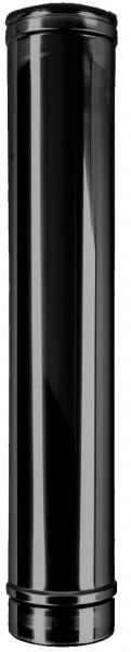 Längenelement 1000 mm DN 150 doppelwandig ISOTUBE Plus schwarz