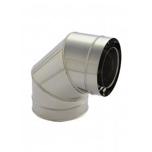 Holetherm Kamin-/ Ofenrohr Konzentrisch Bogen 90° DN 100/150 mm edelstahl