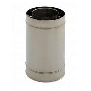 Holetherm Kamin-/ Ofenrohr Konzentrisch Längenelement 250 mm DN 100/150 mm edelstahl