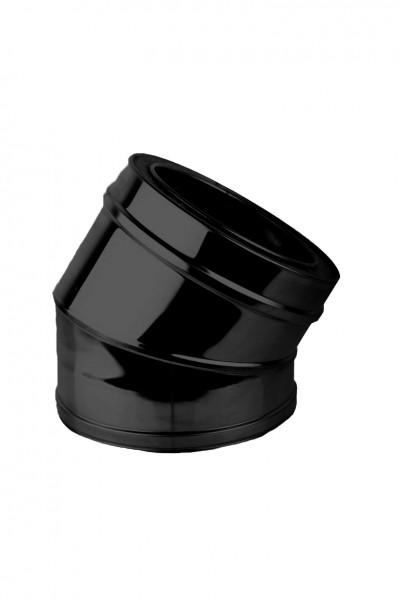 Bogen 30° DN 150 doppelwandig ISOTUBE Plus schwarz