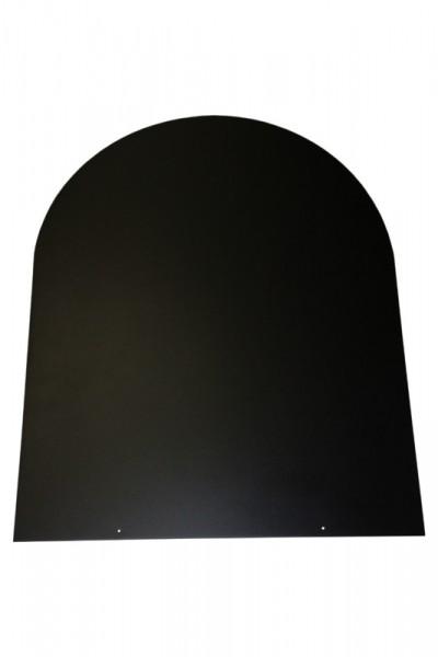 Bodenplatte schwarz Stahl 2 mm Rundbogen 800 x 1000 - 32-100TR